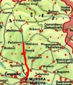 Zemljevid Bedek